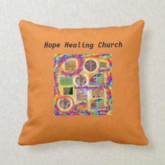 Hope Healing Church Christian Cross Throw Pillow