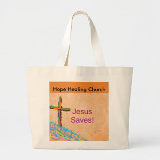 Hope Healing Church Christian Jesus Saves Tote Bag