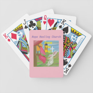 Hope Healing Church Jesus Bunny Playing Cards