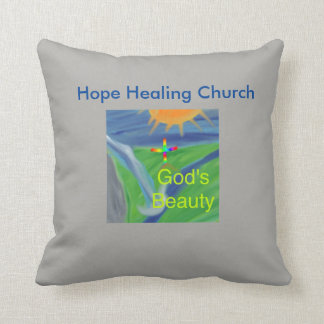 Hope Healing Church Jesus God Throw Pillow