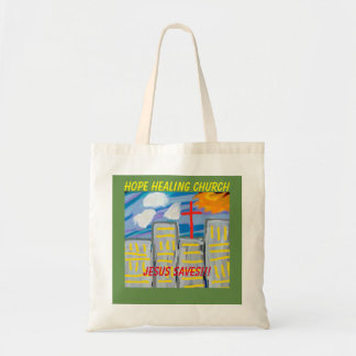 Hope Healing Church Jesus Saves Christian Tote Bag