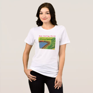 Hope Healing Church Jesus Saves Train Rail T-Shirt