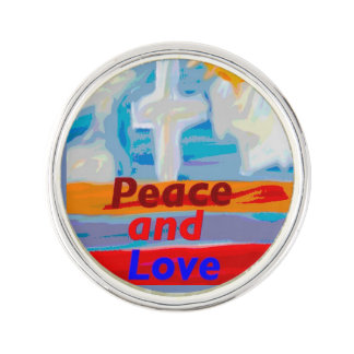 Hope Healing Church Peace and Love Lapel Pin