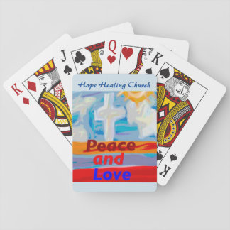 Hope Healing Church Peace and Love Playing Cards