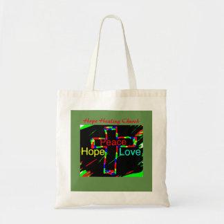 Hope Healing Church Peace and Love Tote Bag