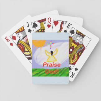Hope Healing Church Praise God Angel Playing Cards
