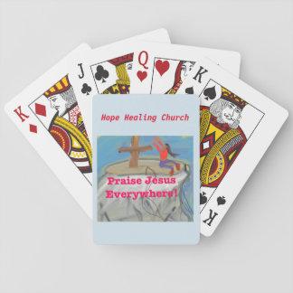 Hope Healing Church Praise Jesus Playing Cards