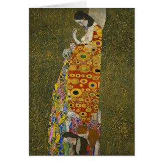 Hope II by Gustav Klimt Note Card