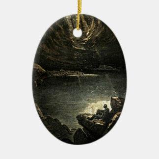 Hope in the Darkness Illustration Ceramic Ornament