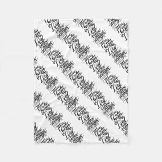 Hope in the Lord Brush Script Fleece Blanket