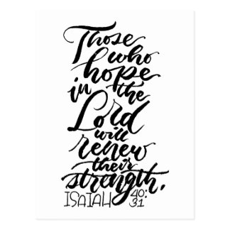 Hope in the Lord Brush Script Postcard