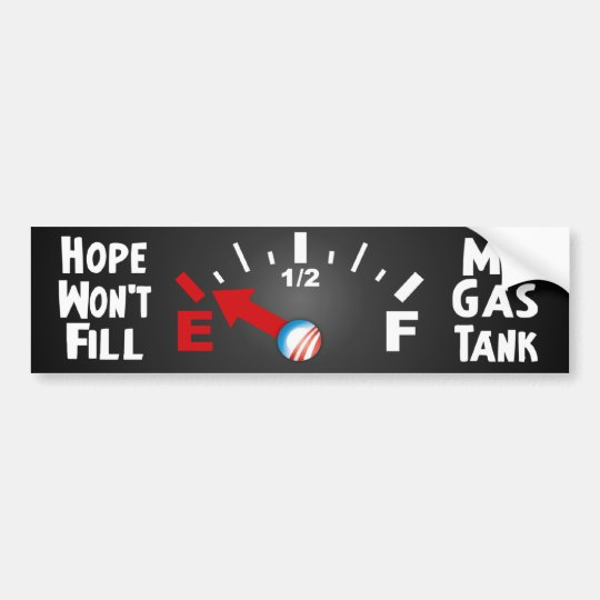 Hope is on Empty - Anti Barack Obama Bumper Sticker