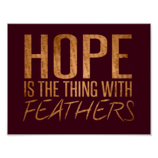 Hope is the thing feathers poster