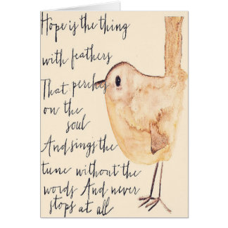 Hope is the Thing With Feathers Card