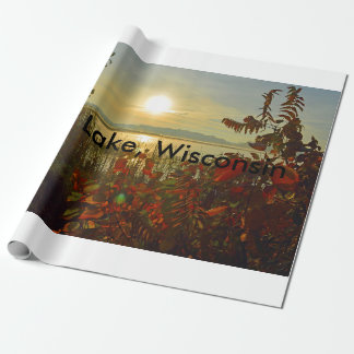 Hope Lake Wisconsin wrapping paper