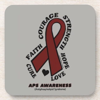 Hope Love Cure...APS Coaster