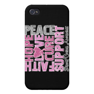 Hope Love Cure Breast Cancer Awareness iPhone 4/4S Case