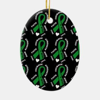Hope Love Cure...C Diff Ceramic Ornament