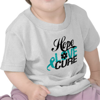 Hope Love Cure OVARIAN CANCER Gifts Tee Shirts
