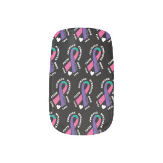 Hope Love Cure...Thyroid Minx Nail Art