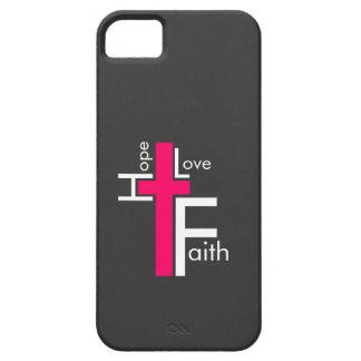 Hope Love Faith Cross iPhone 5 Case
