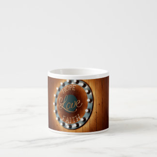Hope Love Faith Espresso Mug