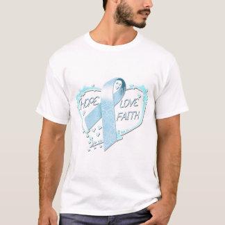 Hope Love Faith Heart (light blue) T-Shirt