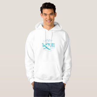 Hope Love Support Ovarian Cancer Awareness Hoodie