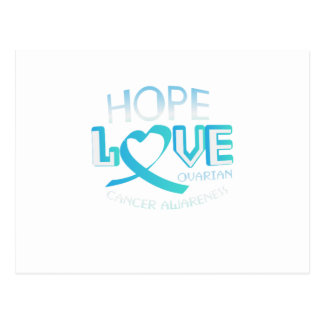 Hope Love Support Ovarian Cancer Awareness Postcard