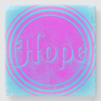 Hope Marble Coaster in Pink & Blue