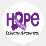 Hope Matters 2 Epilepsy Round Sticker