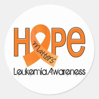 Hope Matters 2 Leukemia Round Sticker