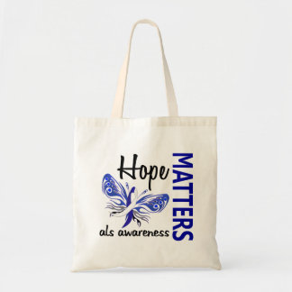 Hope Matters Butterfly ALS Tote Bag