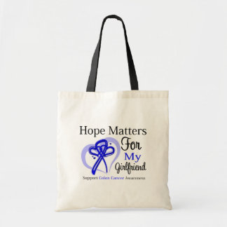 Hope Matters For My Girlfriend - Colon Cancer Budget Tote Bag