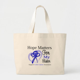 Hope Matters For My Sister - Colon Cancer Jumbo Tote Bag