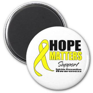 Hope Matters Ribbon Suicide Prevention Refrigerator Magnet