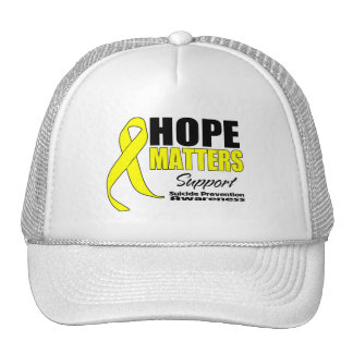 Hope Matters Ribbon Suicide Prevention Trucker Hat