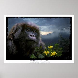 """HOPE"" Mountain Gorilla Print"