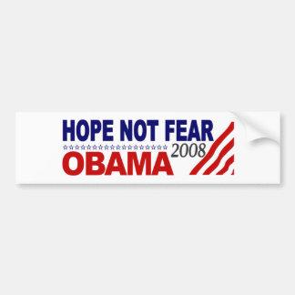 Hope Not Fear Obama 08 Bumper Sticker