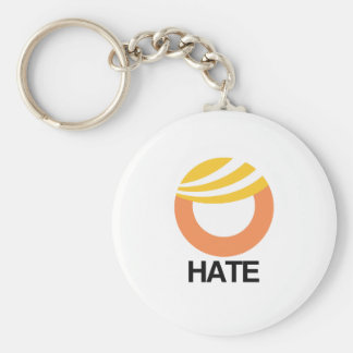 HOPE (Obama) vs. HATE (Trump) Basic Round Button Keychain