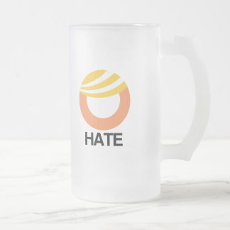 HOPE (Obama) vs. HATE (Trump) Frosted Glass Beer Mug