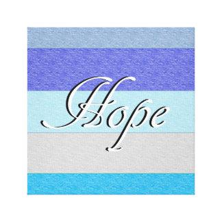 HOPE on Blue Canvas Print