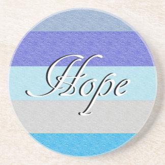 HOPE on Blue Coaster