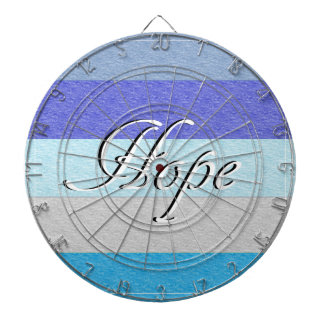 HOPE on Blue Dartboard