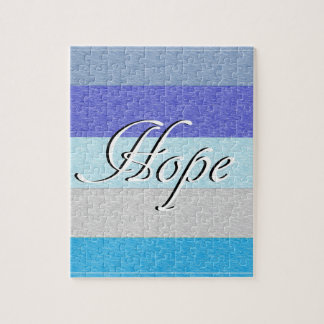 HOPE on Blue Jigsaw Puzzle