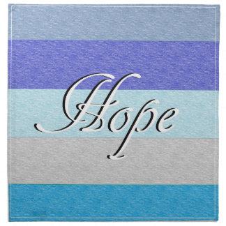 HOPE on Blue Napkin