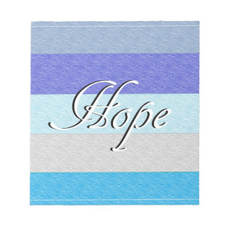 HOPE on Blue Notepad