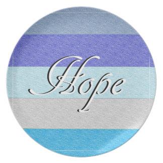 HOPE on Blue Plate