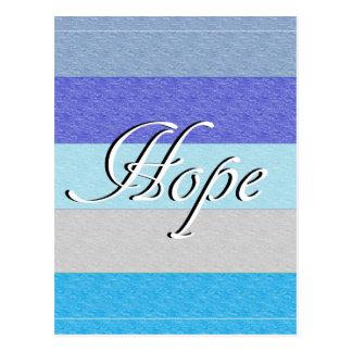 HOPE on Blue Postcard