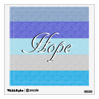 HOPE on Blue Wall Decal